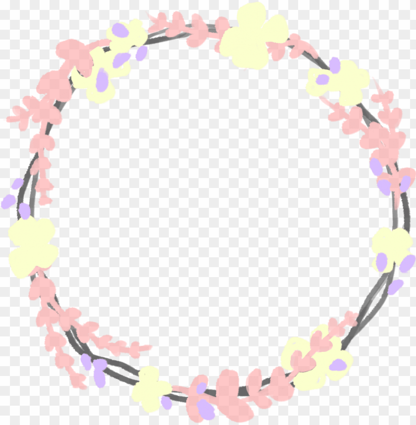 free PNG january one of the rejected floral borders i had been - watercolor pink wreath flowers PNG image with transparent background PNG images transparent