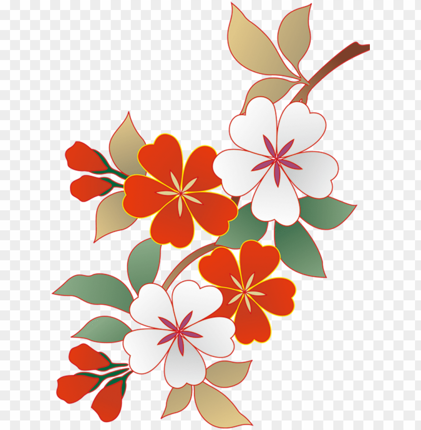 free PNG japan cherry blossom illustration - cartoon japanese cherry blossom PNG image with transparent background PNG images transparent