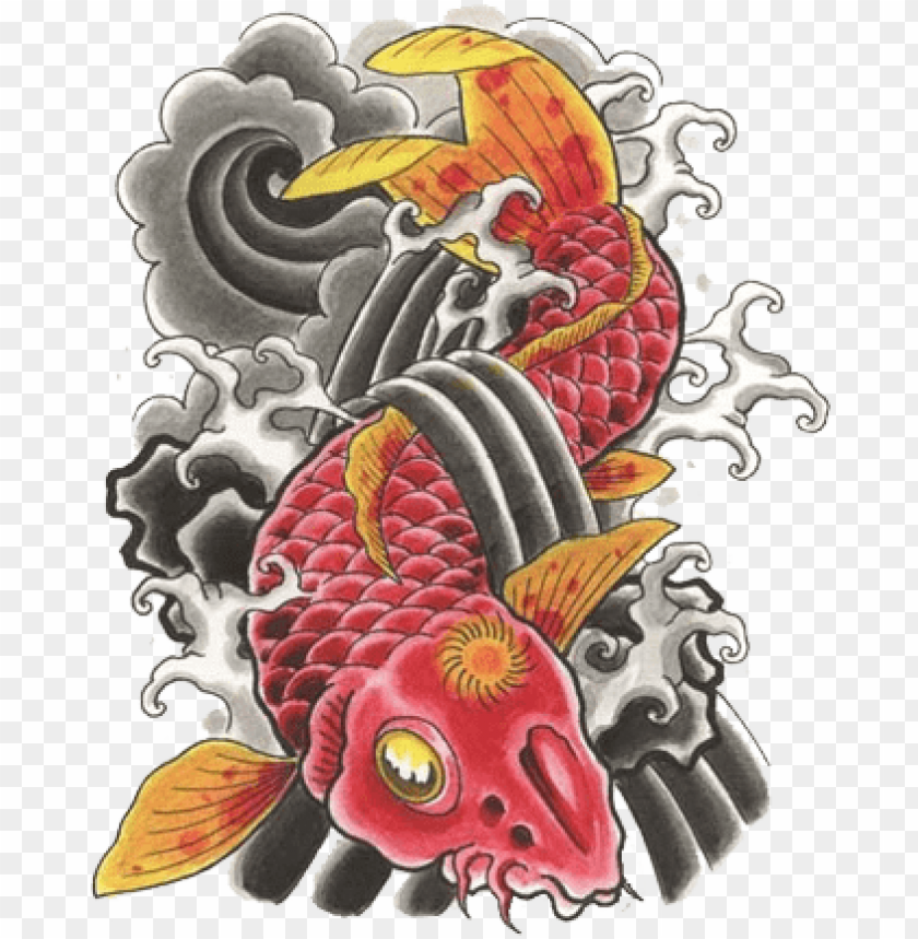 Japanese Image Related Wallpapers Japanese Koi Tattoo Png Image With Transparent Background Toppng