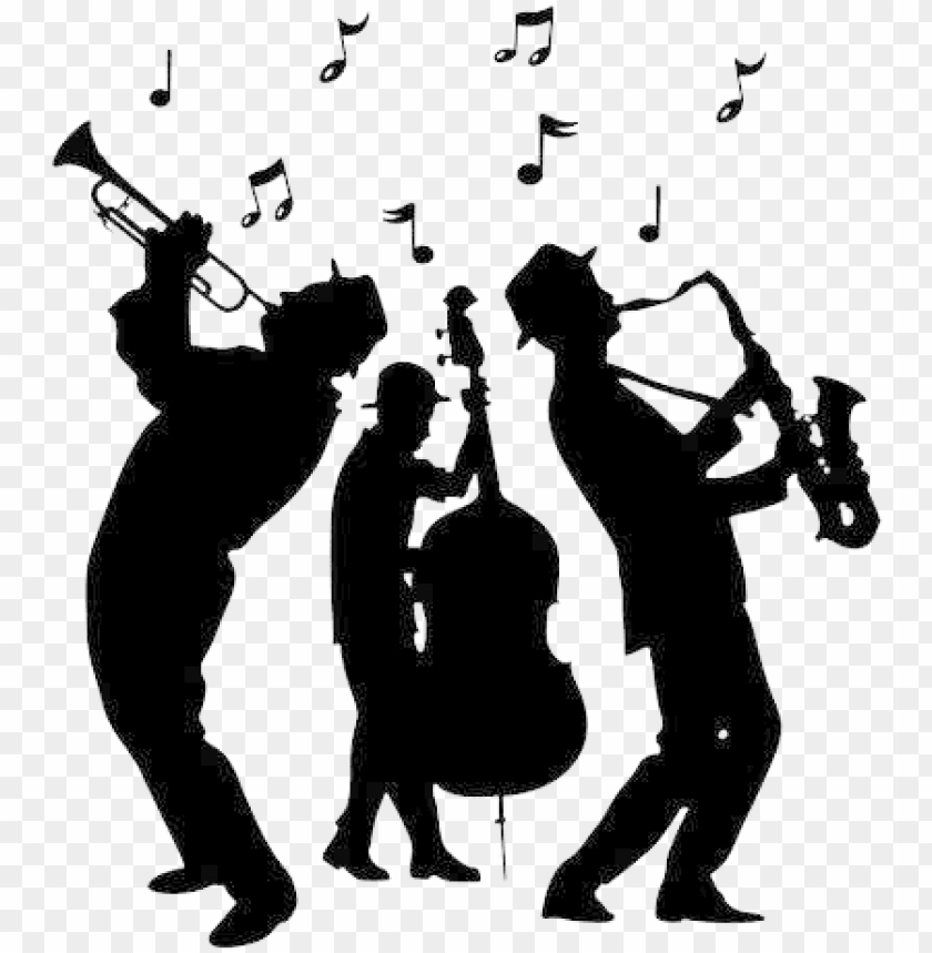 free PNG jazz band silhouette png - jazz band silhouette PNG image with transparent background PNG images transparent