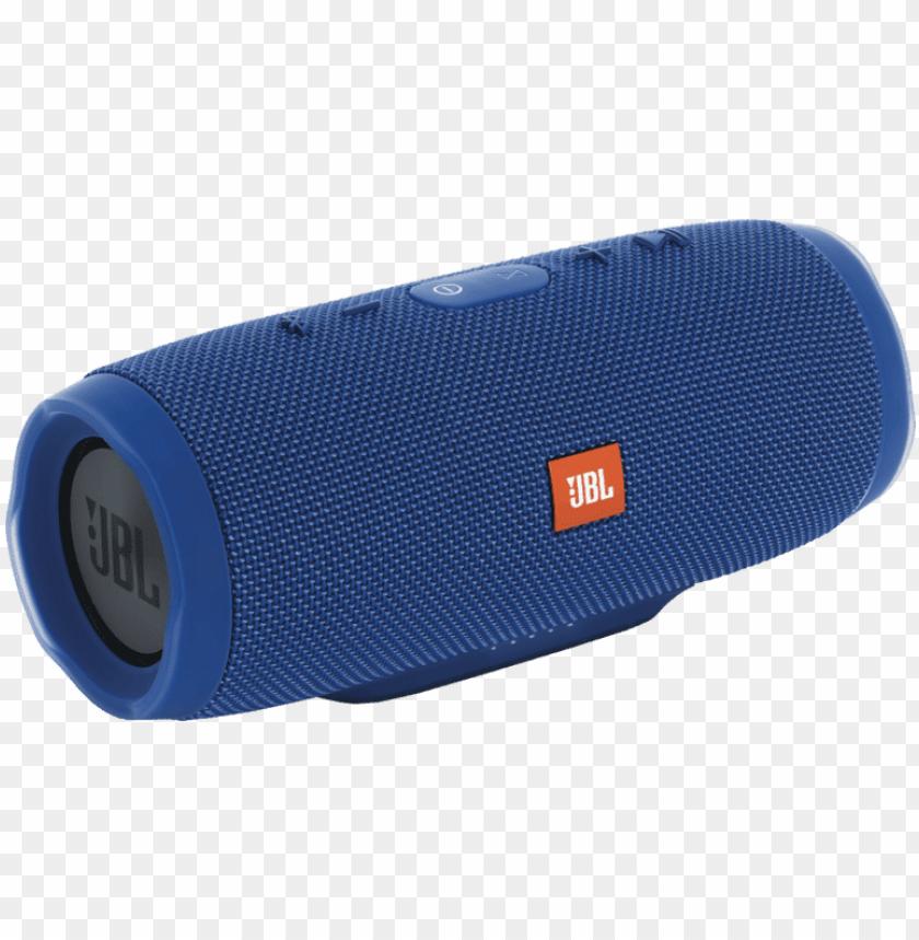 free PNG jbl charge 3 blue bluetooth speaker PNG image with transparent background PNG images transparent