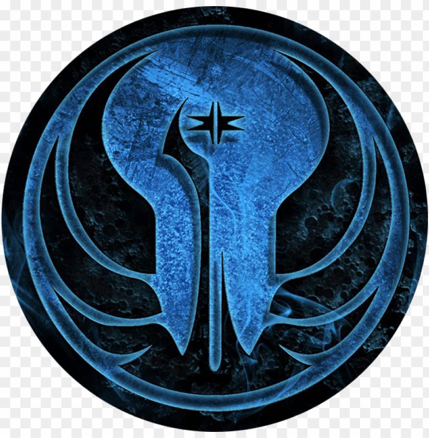 free PNG jedi order logo png - star wars republic symbol blue PNG image with transparent background PNG images transparent