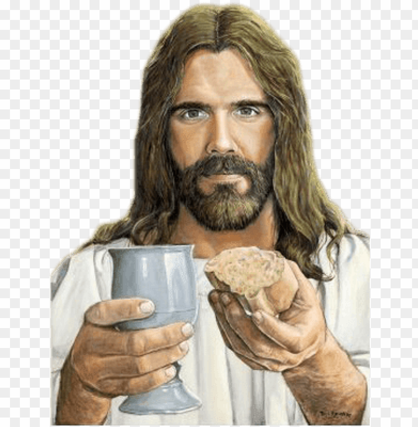 free PNG jesus bread - breaking bread meme PNG image with transparent background PNG images transparent
