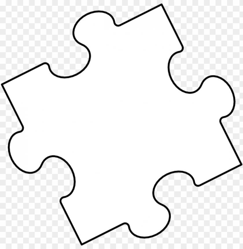 Jigsaw Puzzle Piece Outline Clip Art At Clker White Puzzle Piece Transparent Png Image With Transparent Background Toppng