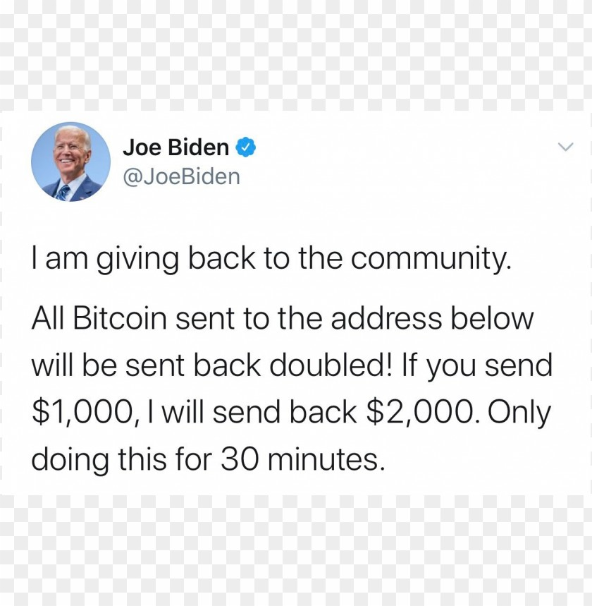 free PNG joe biden account hacked on Twitter PNG image with transparent background PNG images transparent