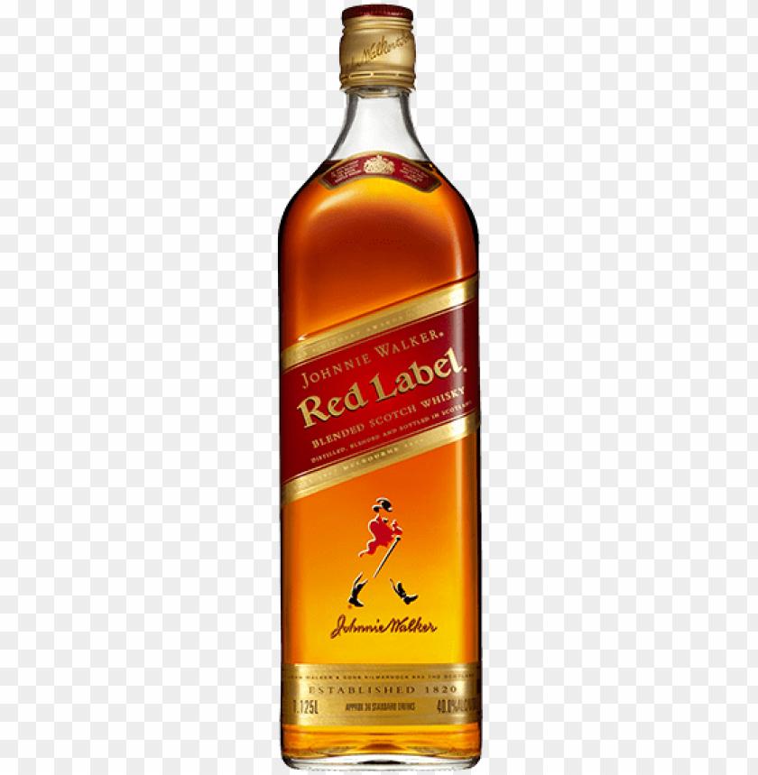 free PNG johnnie walker red label - johnnie walker red label - 1 l bottle PNG image with transparent background PNG images transparent
