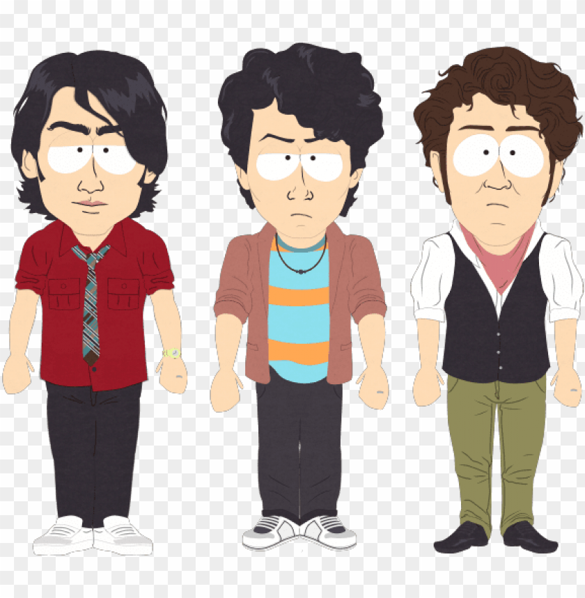 free PNG jonas brothers - jonas brothers south park PNG image with transparent background PNG images transparent
