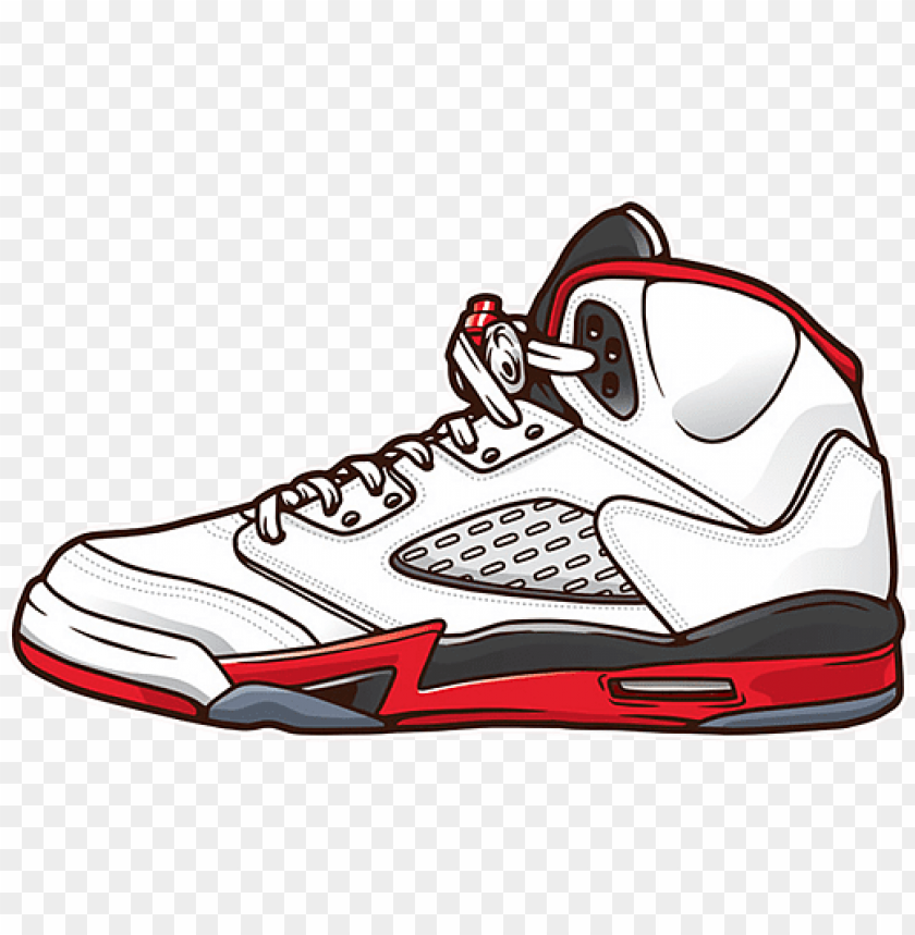 Nacarado Destino autor  jordan 5 shoes vector kids t shirt for sale by azzam - nike air jordan v  PNG image with transparent background | TOPpng
