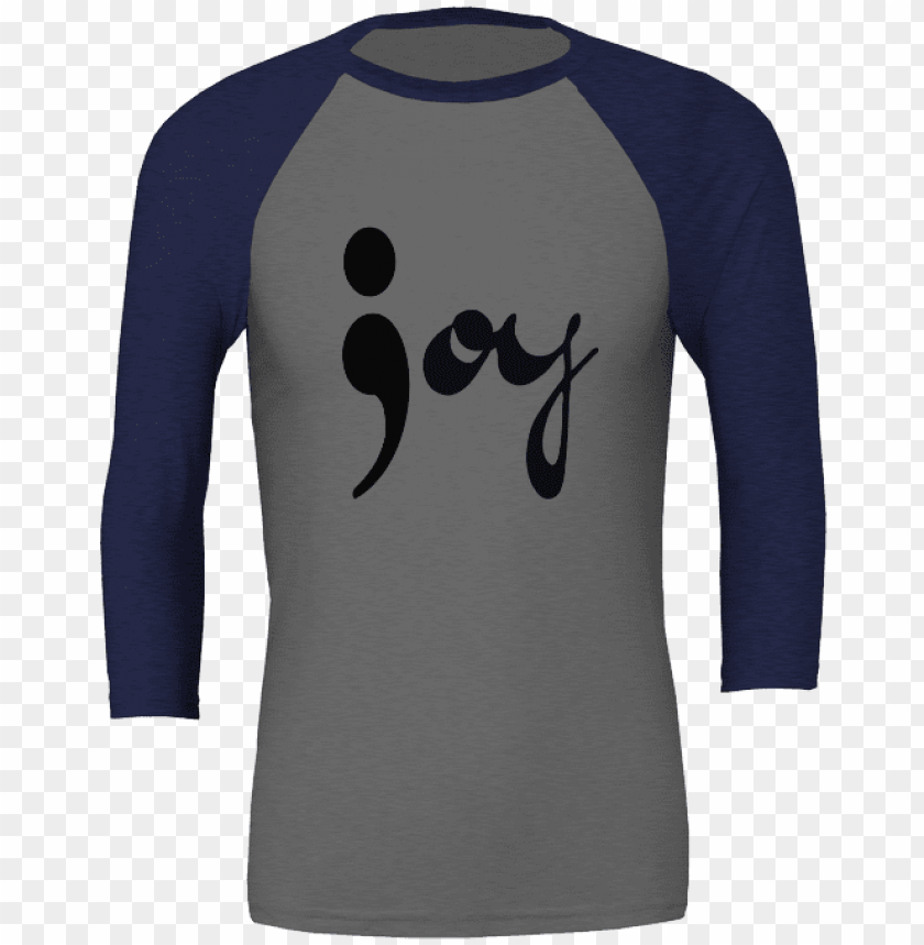 free PNG joy semicolon unisex 3/4 sleeve t-shirt - shirt PNG image with transparent background PNG images transparent