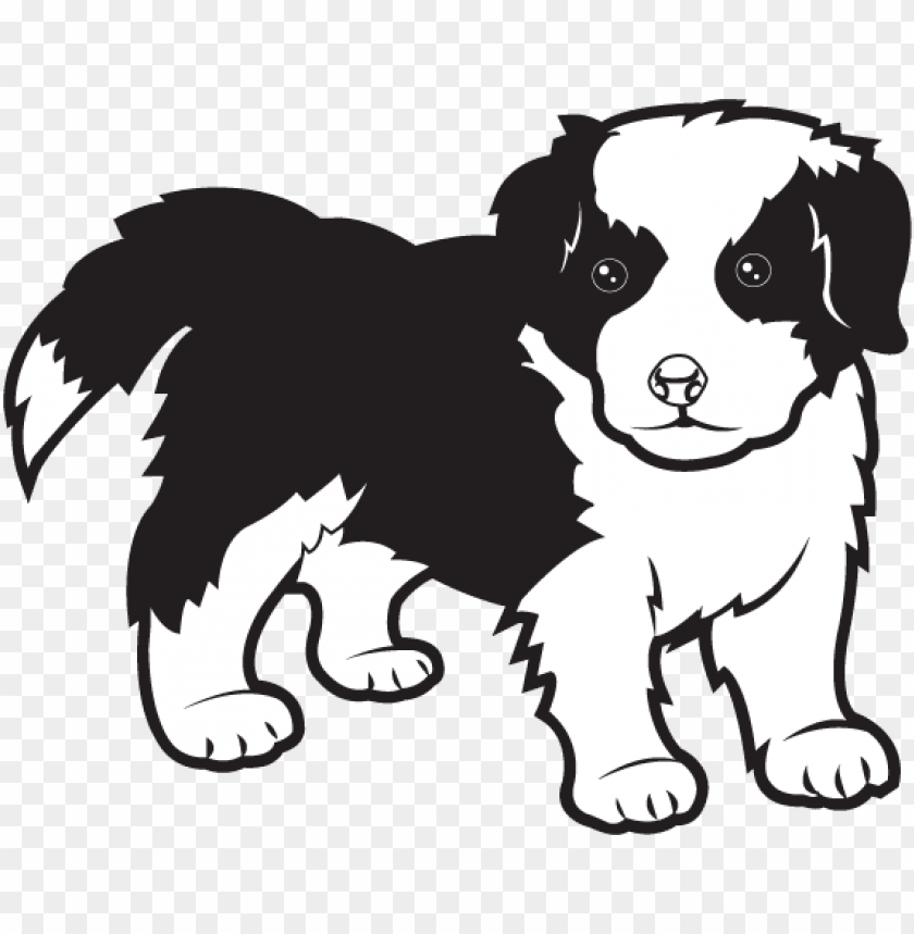 free PNG jpg black and white free clip art animals pets border - border collie clipart black and white PNG image with transparent background PNG images transparent