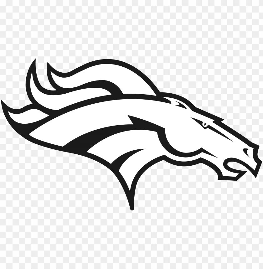 free PNG jpg free download bronco drawing black and white - denver broncos logo black and white PNG image with transparent background PNG images transparent
