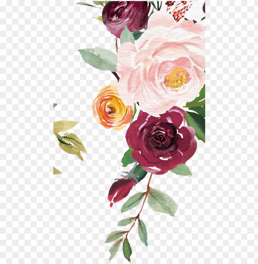free PNG jpg library download free watercolor floral clipart - water color floral vector free PNG image with transparent background PNG images transparent