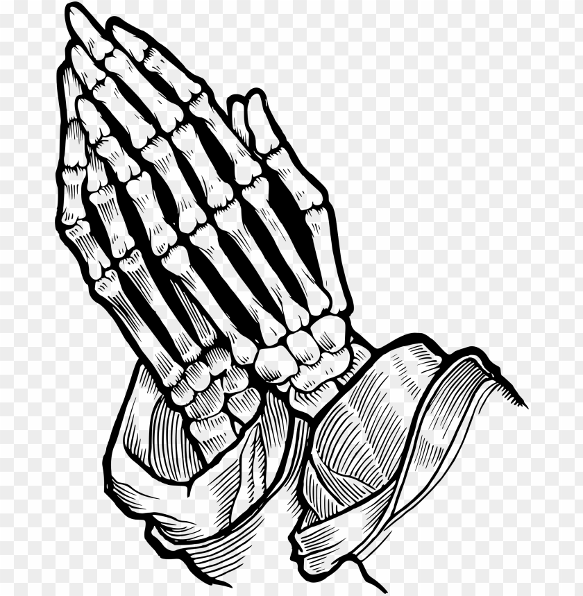 free PNG jpg royalty free download clipart of praying hands - praying skeleton hands drawi PNG image with transparent background PNG images transparent