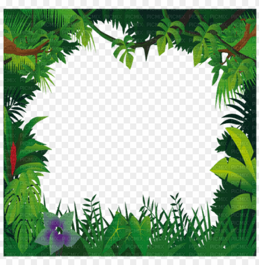 free PNG jungle frame, jungle frame - jungle frame clipart PNG image with transparent background PNG images transparent