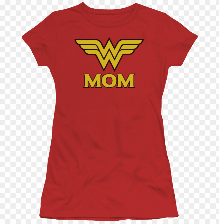 free PNG junior wonder woman mother's day shirt - wonder woman - logo - large PNG image with transparent background PNG images transparent