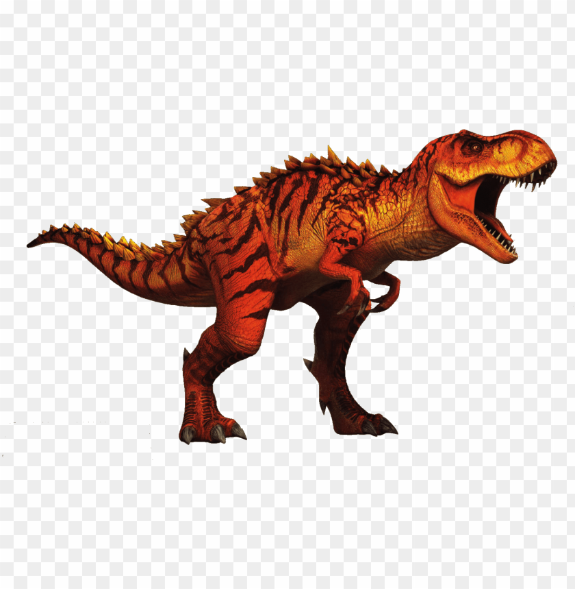 free PNG jurassic world hybrid t rex v2 by sonichedgehog2-d9zhsbn - tiranosaurio rex jurassic world the game PNG image with transparent background PNG images transparent