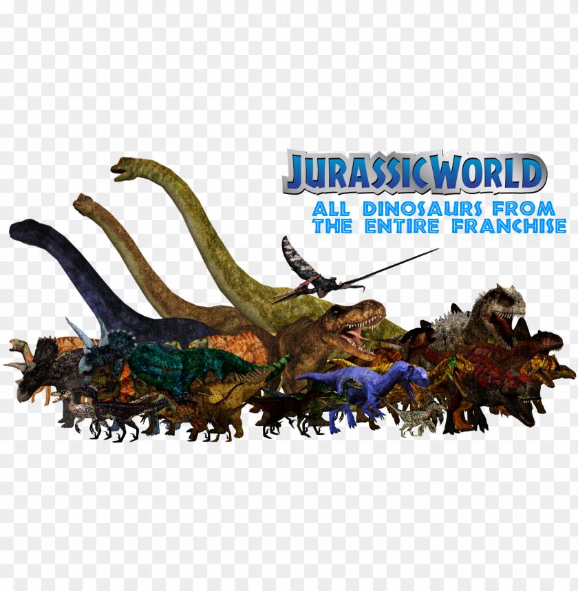 free PNG jurassic world pack - jurassic park franchise dinosaurs PNG image with transparent background PNG images transparent