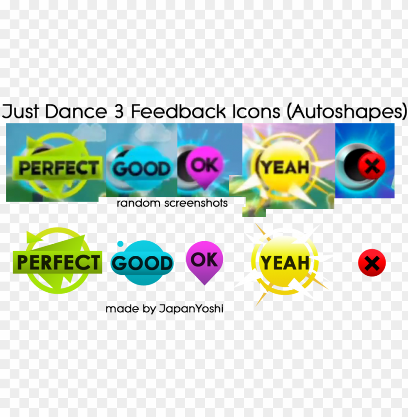 free PNG just dance 2 just dance 3 feedback icons by japanyoshi-d5xfdw2 - just dance 2 perfect PNG image with transparent background PNG images transparent