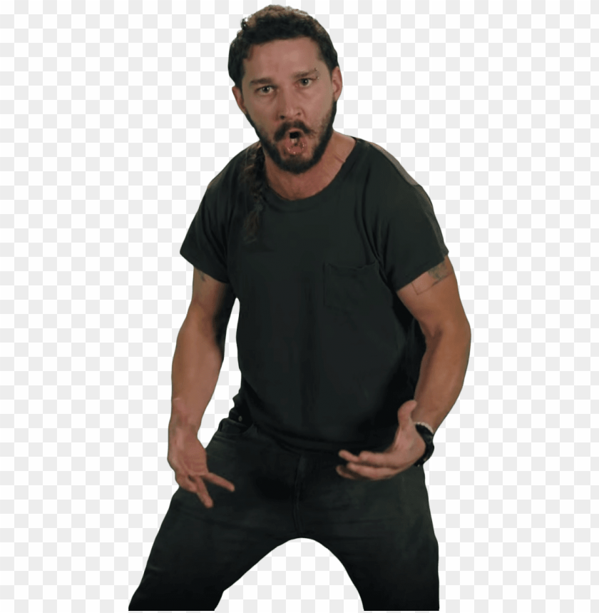 free PNG just do it shia labeouf pose - just do it PNG image with transparent background PNG images transparent