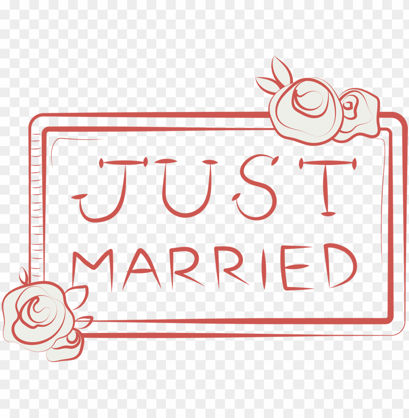 free PNG just married 艺术字 PNG image with transparent background PNG images transparent