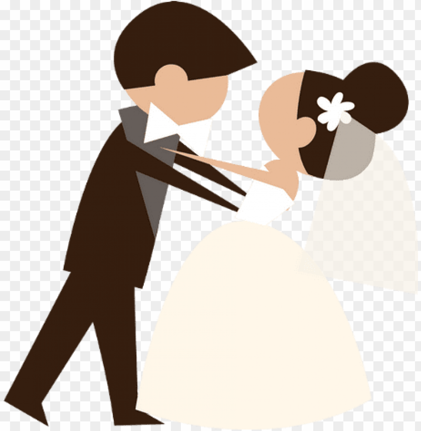 free PNG just married clipart png download - wedding invitation couple vector PNG image with transparent background PNG images transparent