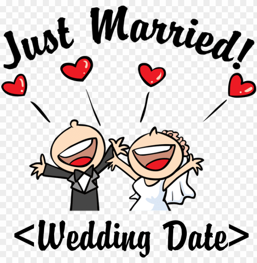 free PNG just married transparent just married - just married (add your wedding date) mu PNG image with transparent background PNG images transparent