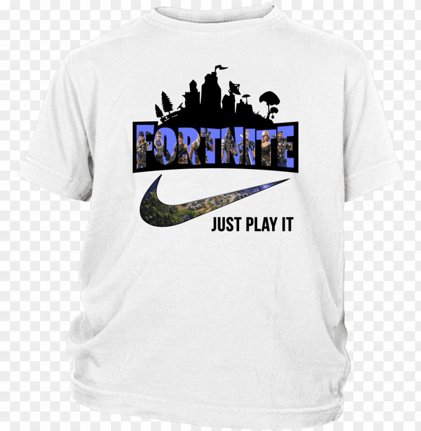 free PNG just play it nike logo shirts t shirt district youth - tee shirt fortnite nike PNG image with transparent background PNG images transparent