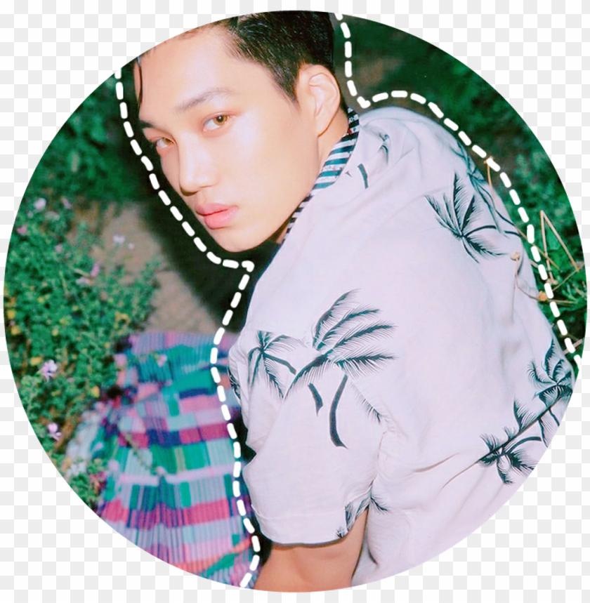 free PNG kai kimjongin kimkai exo exok kpop circle - exo kai circle sticker PNG image with transparent background PNG images transparent