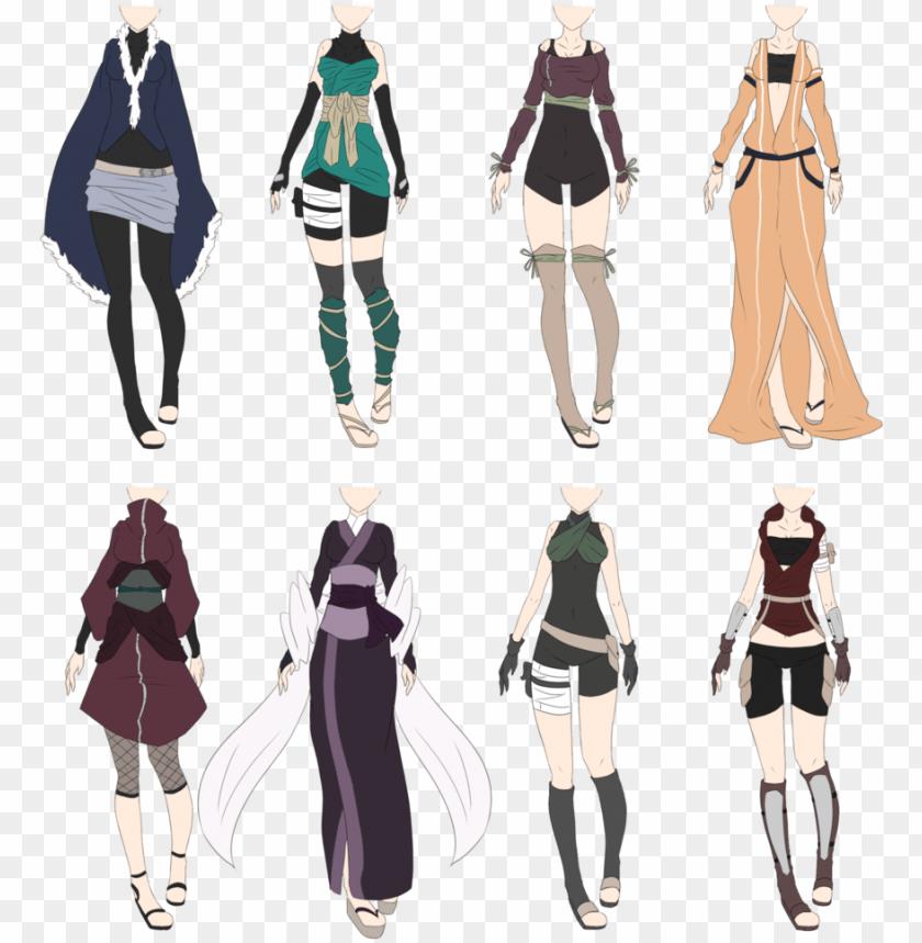 free PNG #kakashi #kiba #lee #naruto #neji #sasuke #shikamaru - female naruto ninja outfits PNG image with transparent background PNG images transparent