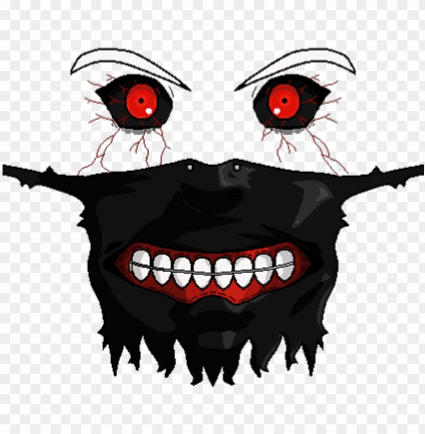 Kaneki Ken Mask Png T Shirt Ghoul Roblox Png Image With
