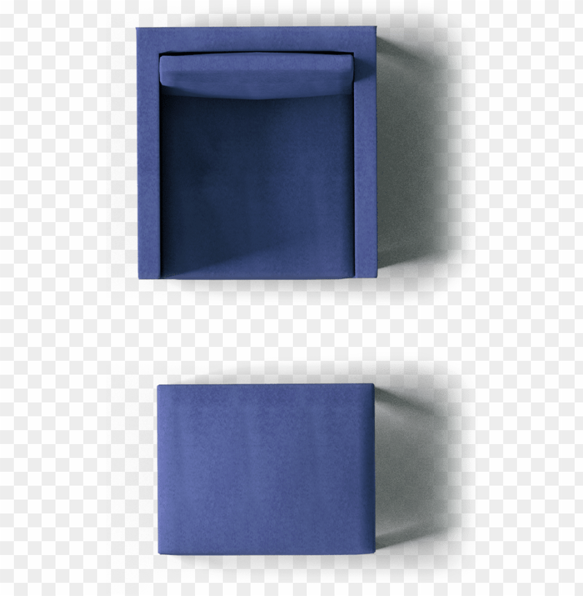 free PNG karlstad footstool and armchair top - blue sofa top view PNG image with transparent background PNG images transparent