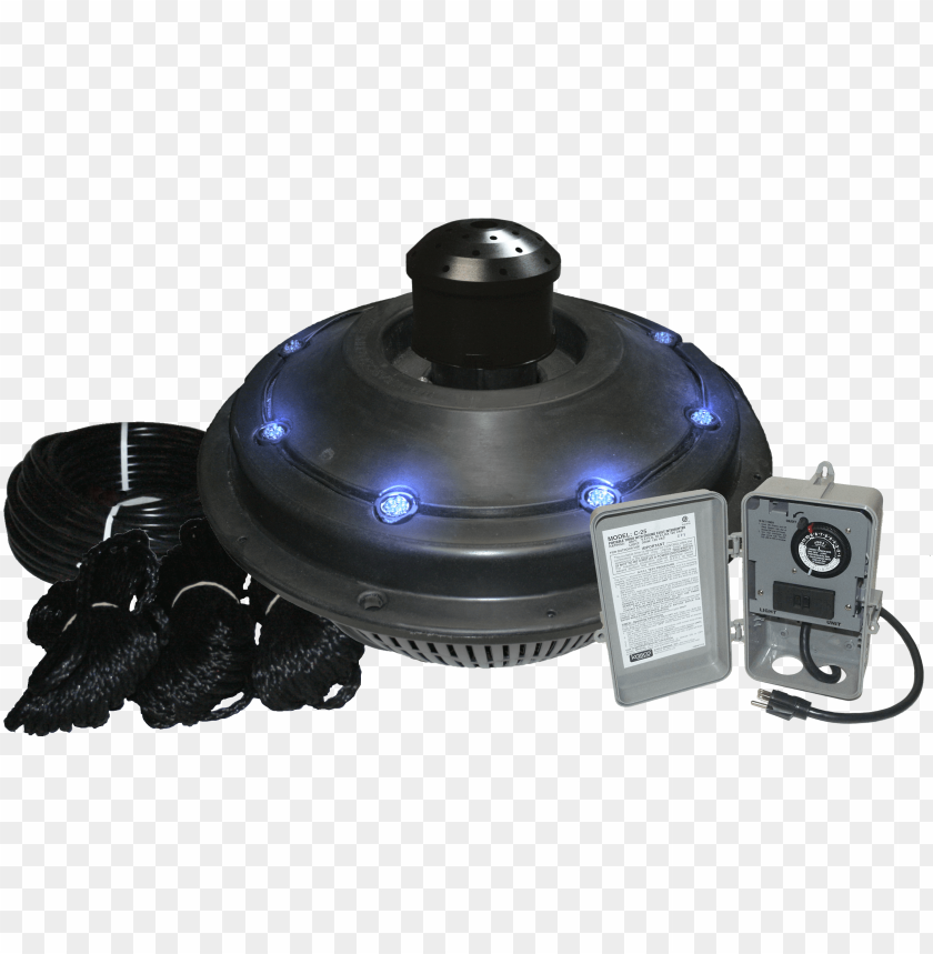 free PNG kasco marine xstream fountain lit - kasco 4400vfx-200 1hp vfx fountain (200') PNG image with transparent background PNG images transparent