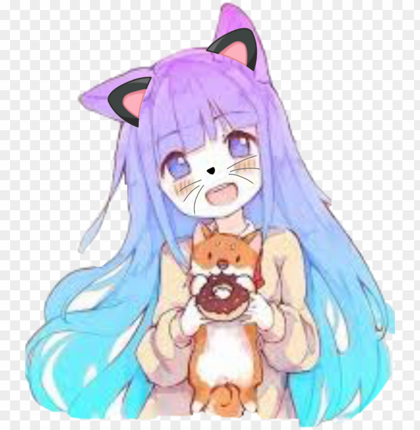 Kawaii Cute Anime Girl Png Image With Transparent Background Toppng