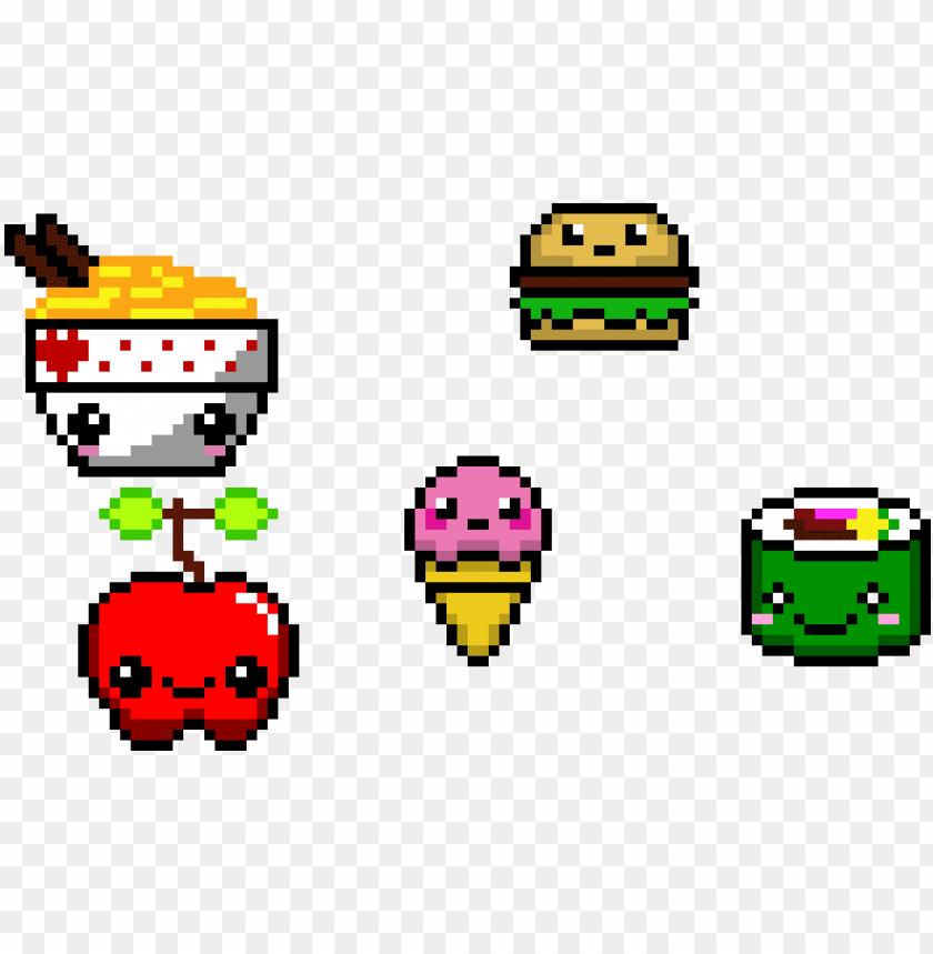 Kawaii Food Pixel Art Kawaii Food Png Image With