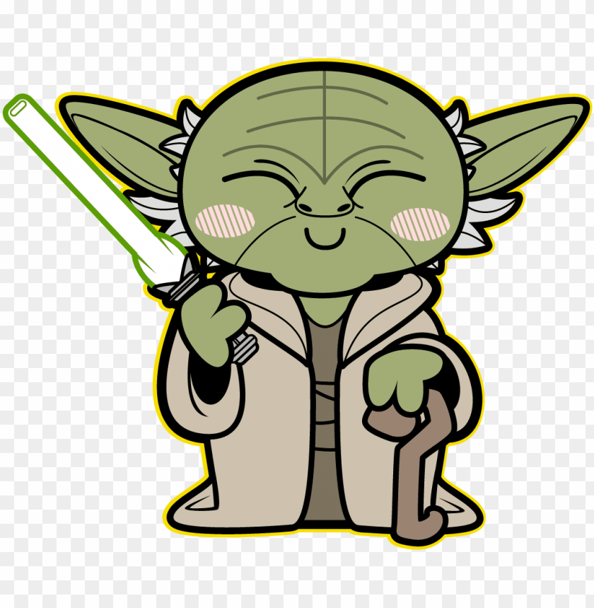 free PNG kawaii yoda - caricatura star wars personajes PNG image with transparent background PNG images transparent