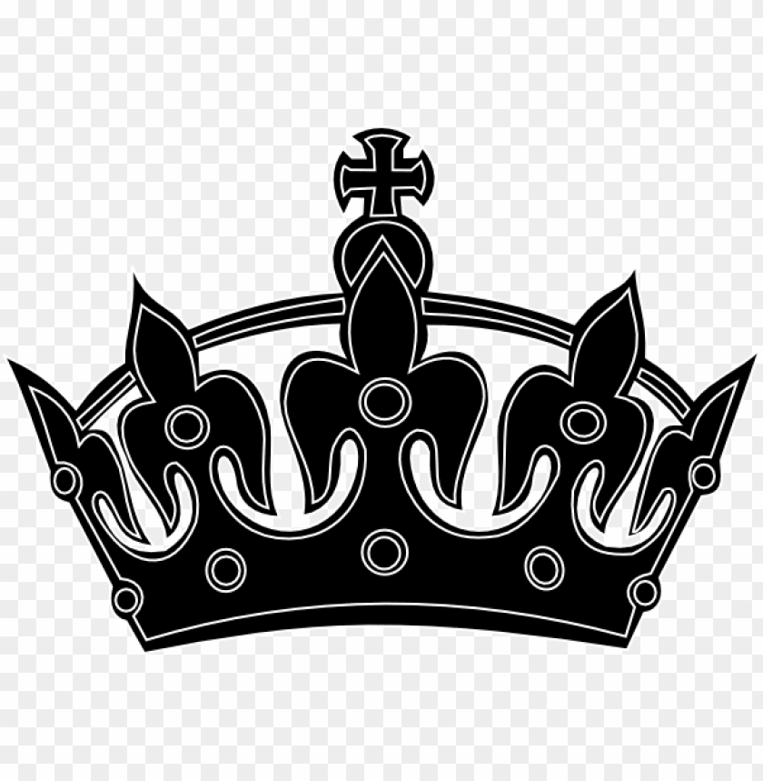 free PNG keep calm crown png - king crown png black and white PNG image with transparent background PNG images transparent