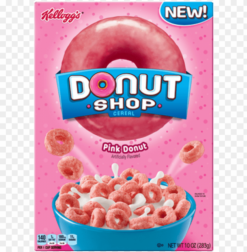 kellogg's donut shop cereal pink 453g - kellogg's donut shop cereal PNG image with transparent background@toppng.com