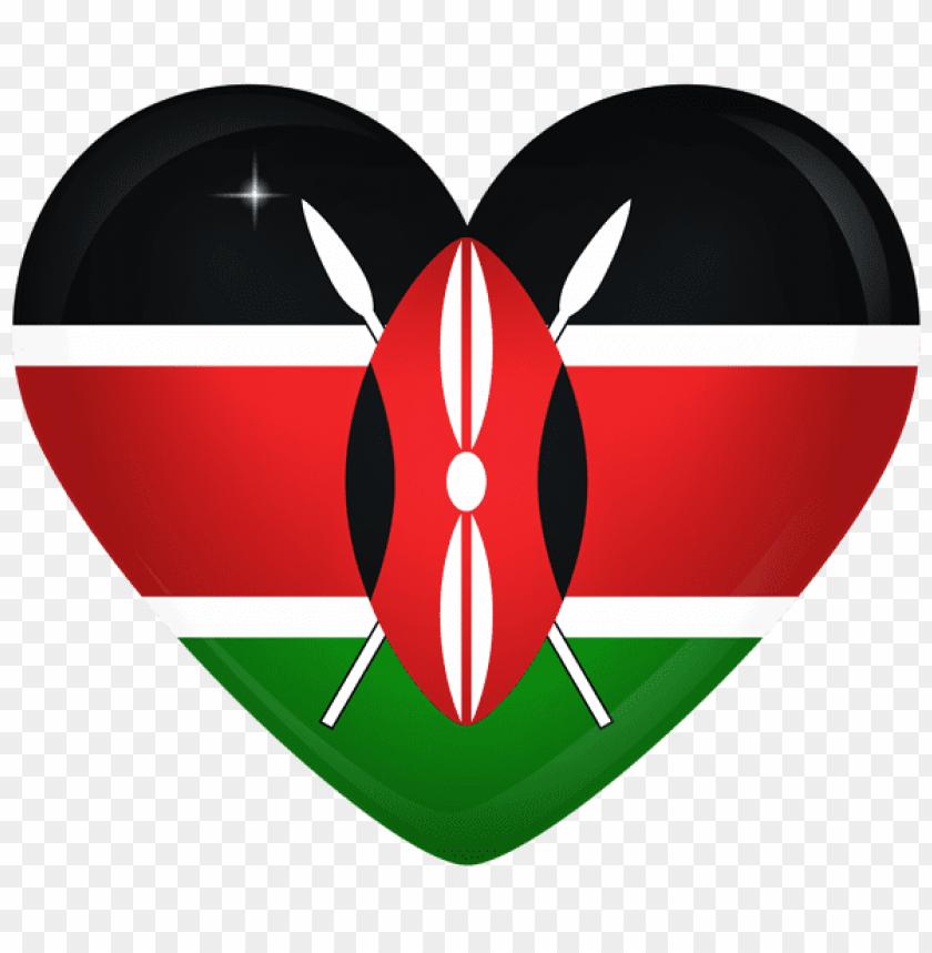 free PNG Download kenya large heart flag clipart png photo   PNG images transparent
