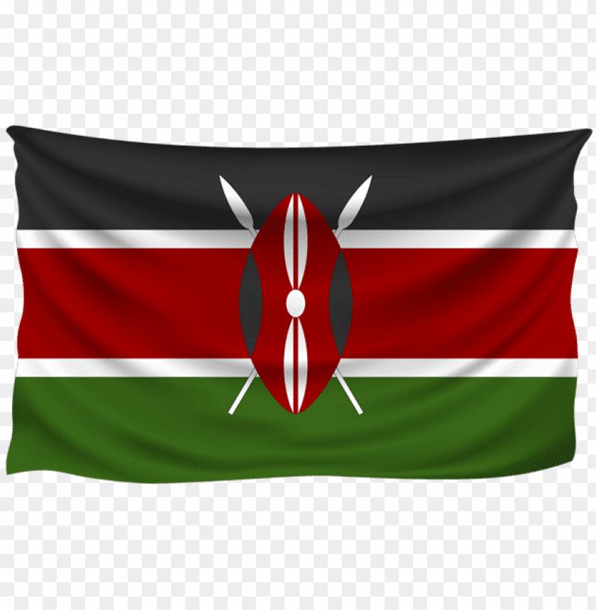 free PNG Download kenya wrinkled flag clipart png photo   PNG images transparent