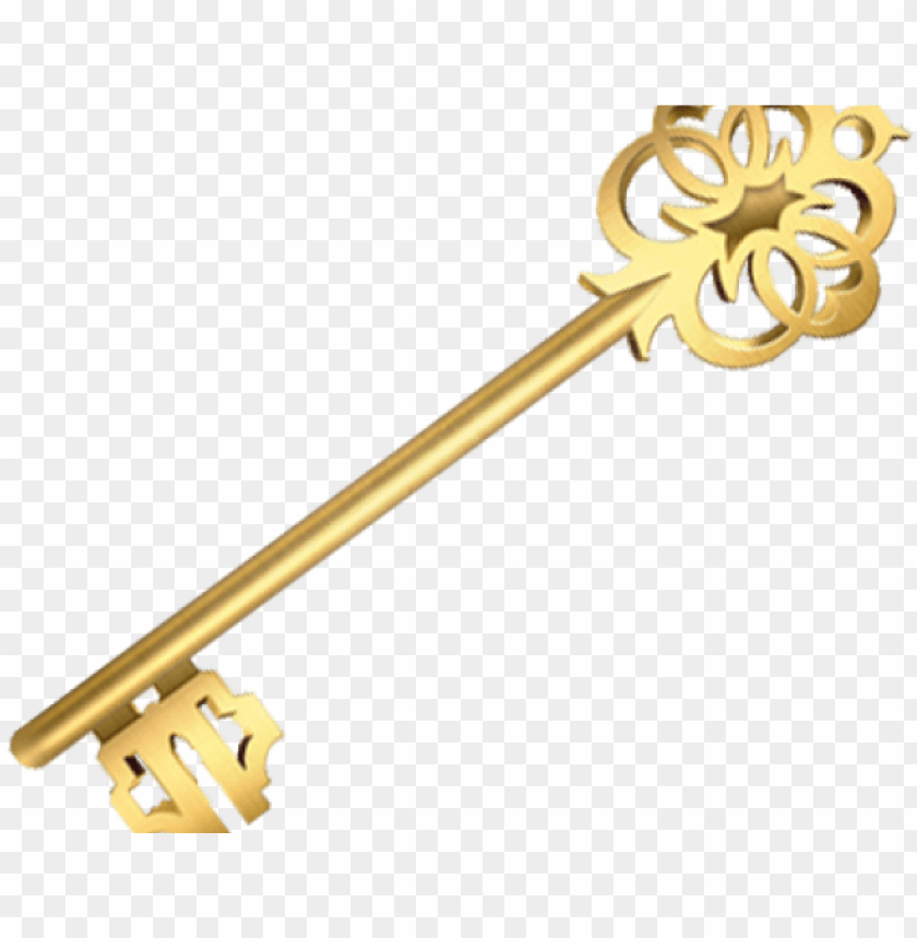 free PNG key clipart golden key - brass PNG image with transparent background PNG images transparent
