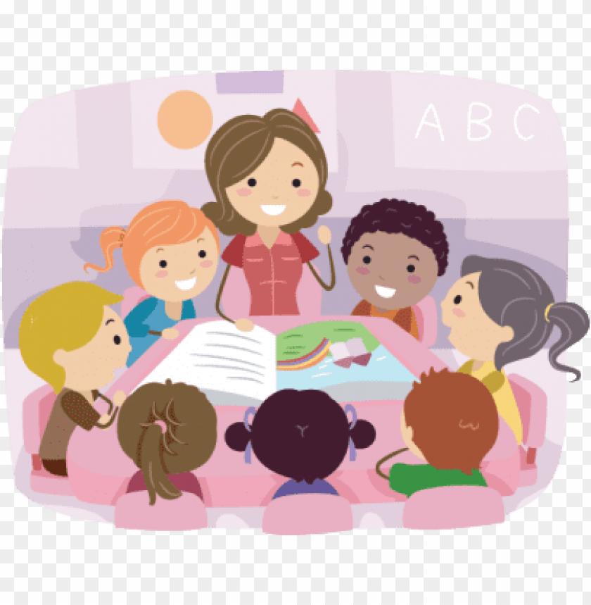 Christian Preschool Lutheran Church Of Our Redeemer - Kids With Rainbow  Clipart - Free Transparent PNG Clipart Images Download