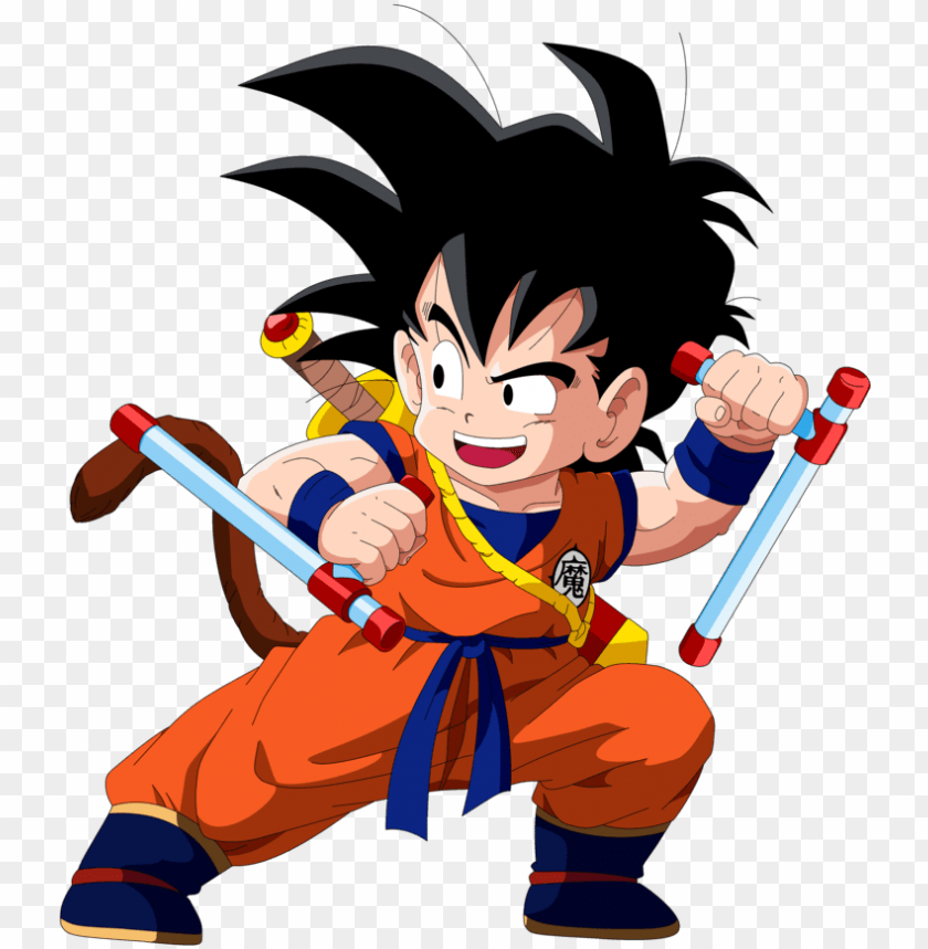 free PNG kid gohan png - young gohan with tail PNG image with transparent background PNG images transparent
