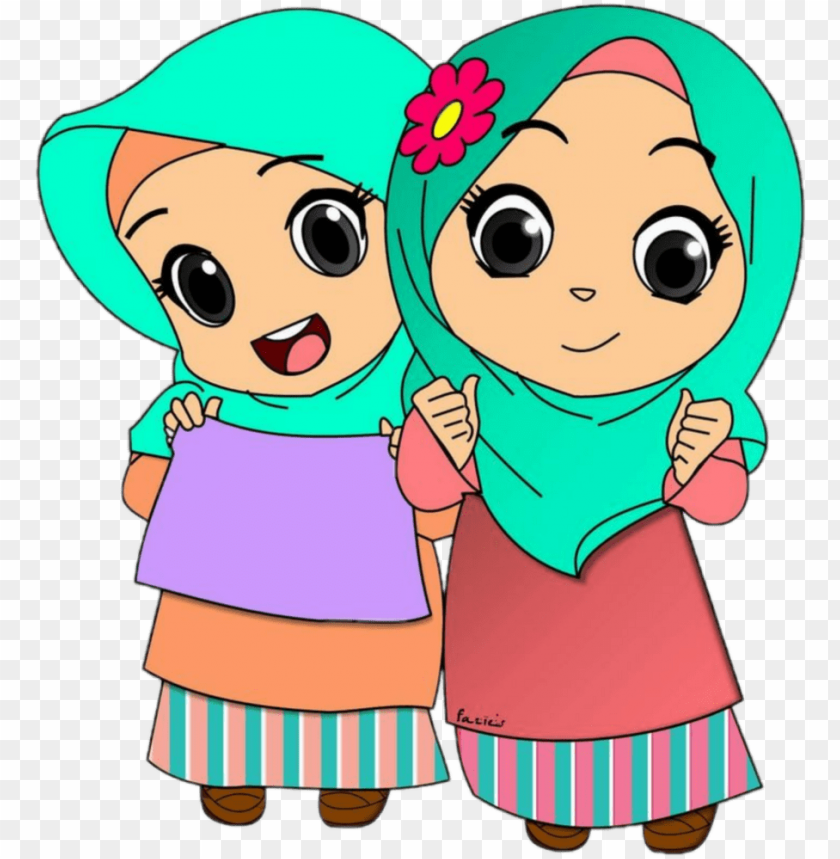 free PNG #kids #hijab #jilbab #muslimwomensday - cartoon pictures of muslims PNG image with transparent background PNG images transparent
