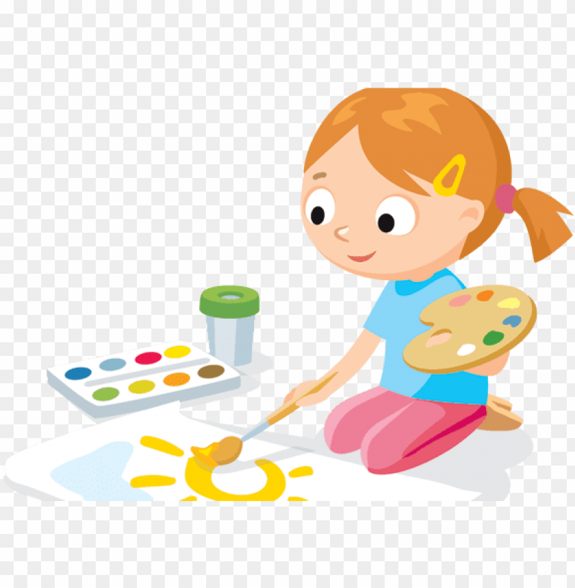 free PNG kids painting png - children painting clipart PNG image with transparent background PNG images transparent