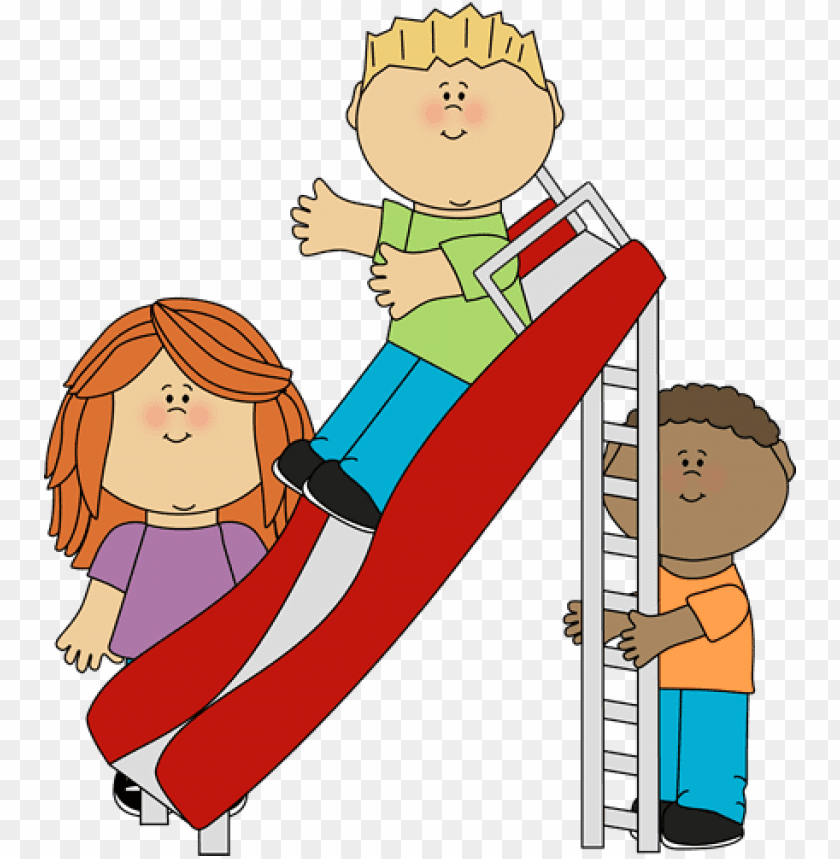 free PNG kids playing on a slide - kids playing clipart PNG image with transparent background PNG images transparent