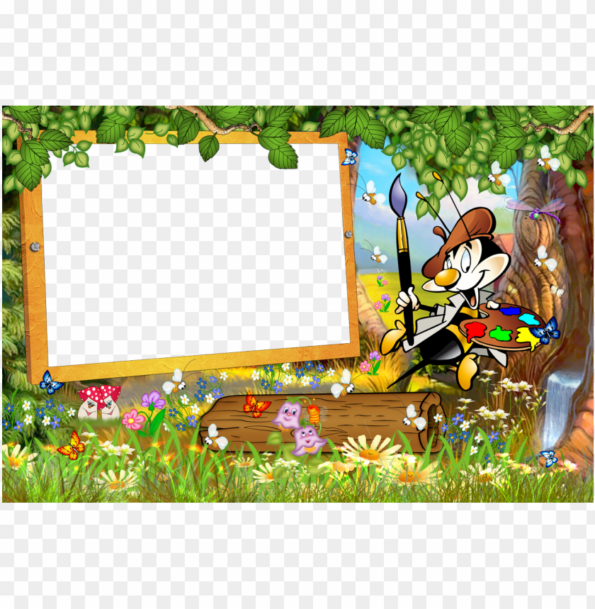 free PNG kids transparent frame with cartoon painter background best stock photos PNG images transparent