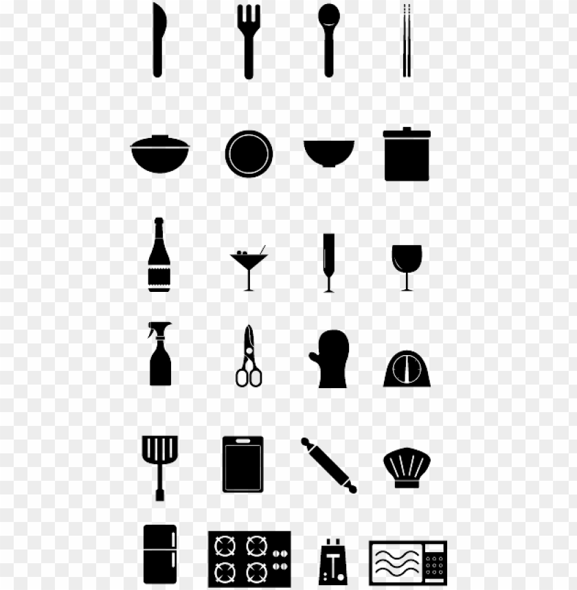 free PNG kitchen supply icon set - kitchen set icon png - Free PNG Images PNG images transparent