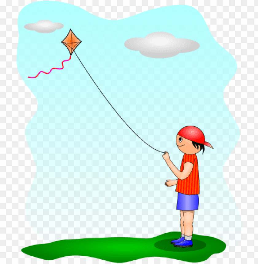 free PNG kite flying- boy playing a kite PNG image with transparent background PNG images transparent