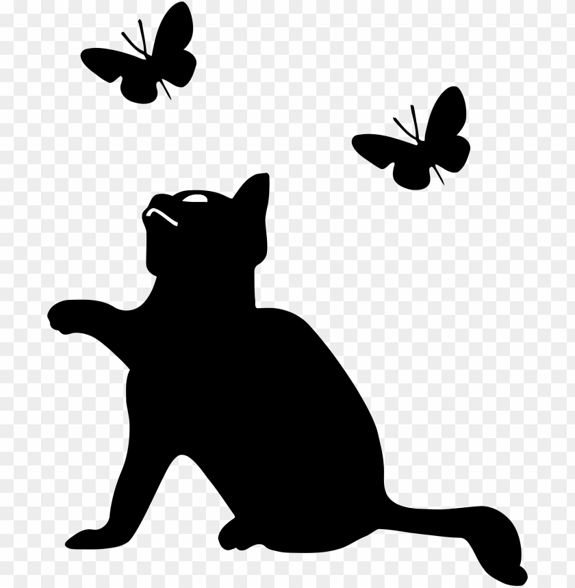 free PNG kitten playing with butterflies icon clipart freeuse - cat playing ico PNG image with transparent background PNG images transparent