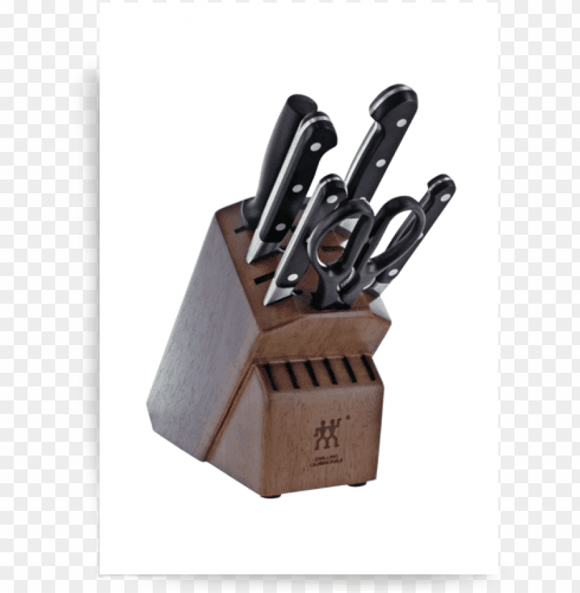 free PNG knife block set - zwilling j.a. henckels pro 7-pc knife block set PNG image with transparent background PNG images transparent